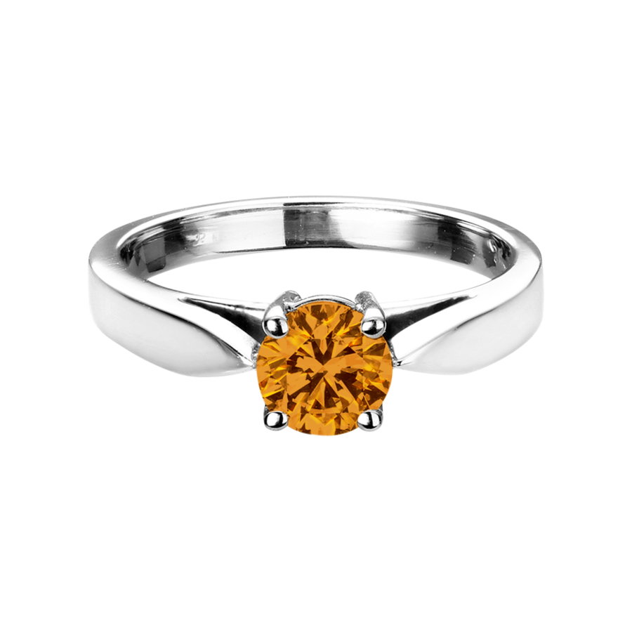 Vancouver Madeira Citrine orange in White Gold