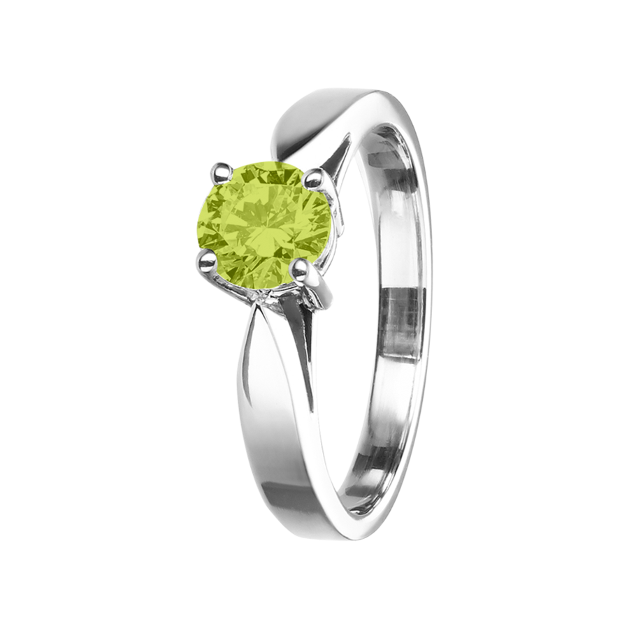 Vancouver Peridot green in White Gold