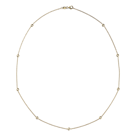 Diamantkette Circuit 0,03 Karat in Gelbgold