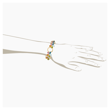 Flowers Armband in Gelbgold