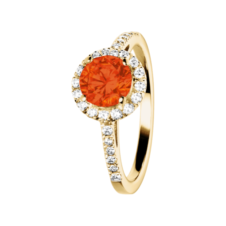 Prague Feueropal orange in Gelbgold