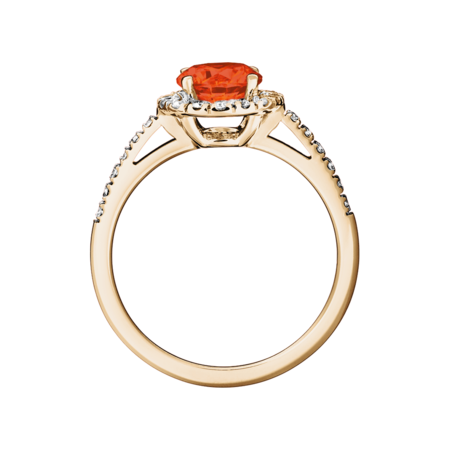 Prague Feueropal orange in Roségold
