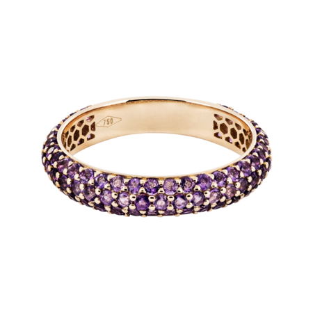 Ring Couleur Violet in Gelbgold