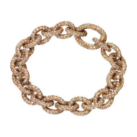 Anchor Chain Bracelet Champagne in Rose Gold