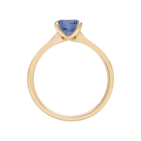 Basel Tanzanite blue in Rose Gold