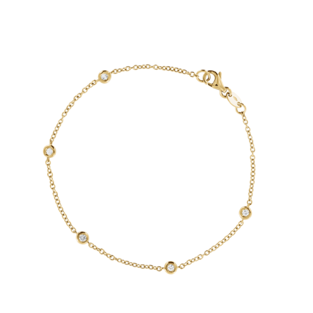 Bracelet Circuit 0.03 carat in Yellow Gold