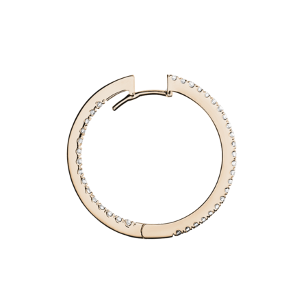 Diamond Hoop Earrings III in Rose Gold