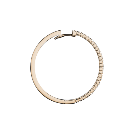 Diamond Hoop Earrings IV in Rose Gold