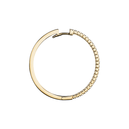 Diamond Hoop Earrings IV in Yellow Gold