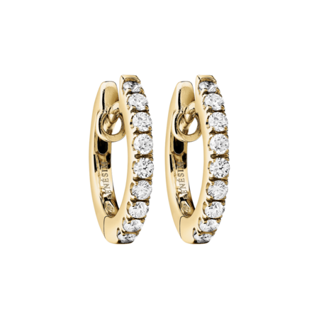Diamond Hoop Earrings VIII in Yellow Gold
