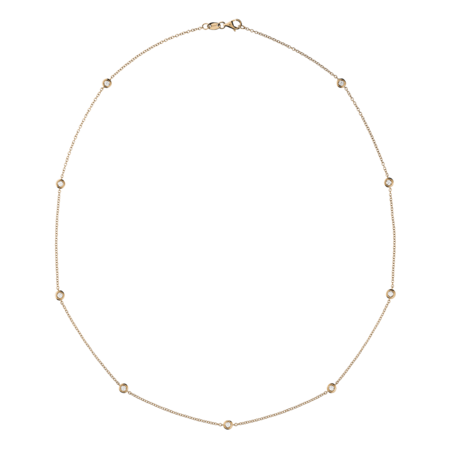 Diamond Necklace Circuit 0.07 carat in Rose Gold