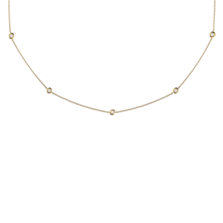 Diamond Necklace Circuit 0.07 carat in Yellow Gold