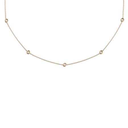 Diamond Necklace Circuit 0.10 carat in Rose Gold
