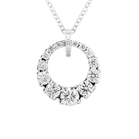 Diamond Necklace I in White Gold