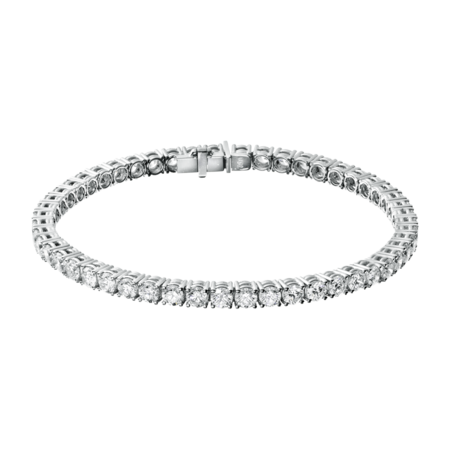Diamond Snow Tennis Bracelet in White Gold