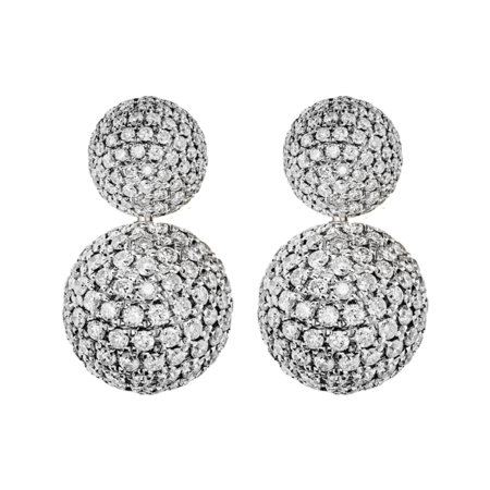 Earrings Diamond & Diamond in White Gold