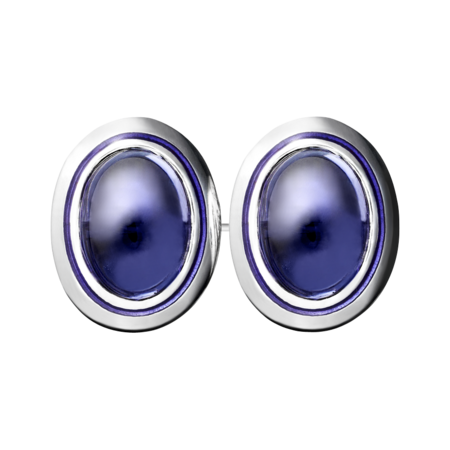 Gents Cufflinks Iolite in Palladium