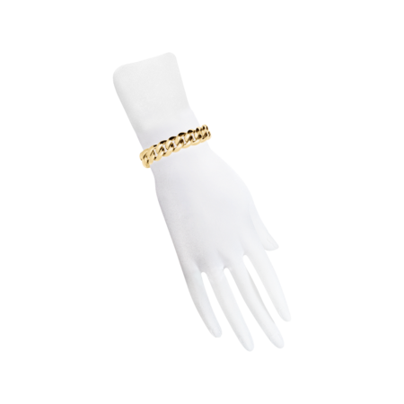 Gold Bracelet IV with Diamonds in Yellow Gold