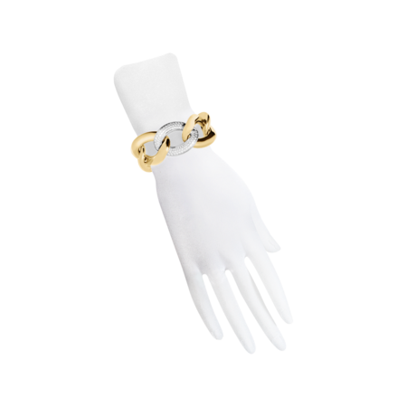 Gold Bracelet with Diamonds in Yellow Gold