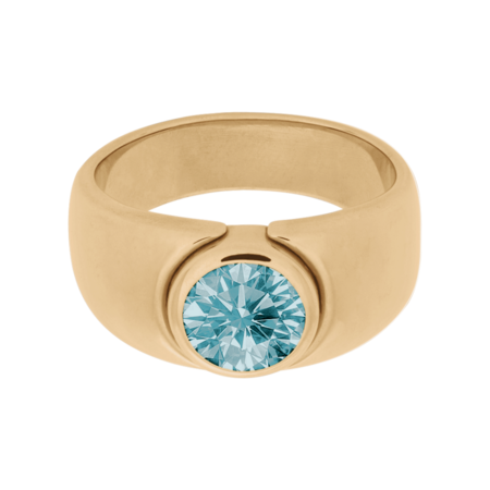 Mantua Aquamarine blue in Rose Gold