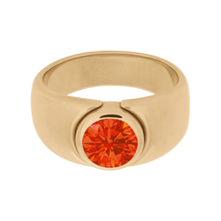 Mantua Fire Opal orange in Rose Gold