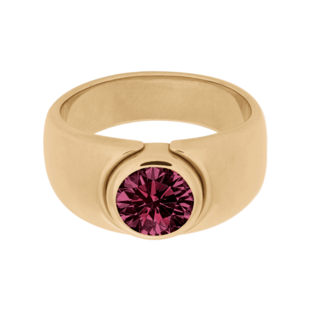 Mantua Rhodolite red in Rose Gold