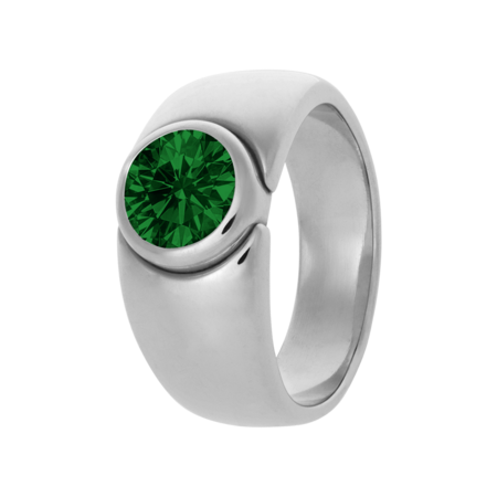 Mantua Tourmaline green in White Gold