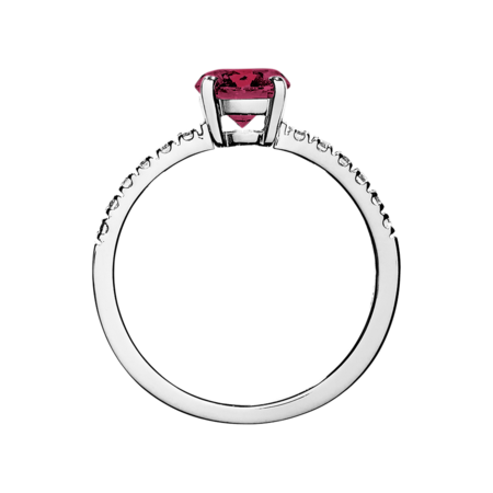 Melbourne Rhodolite red in Platinum
