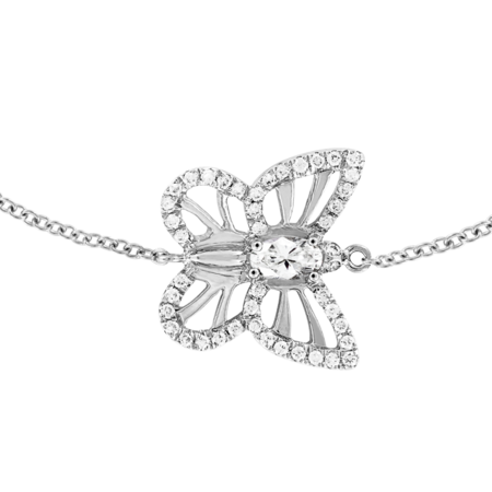 Papillon Bracelet Diamond in White Gold