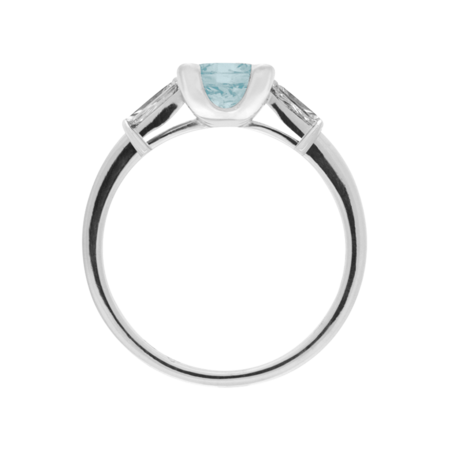 Paris Aquamarine Blue in White Gold