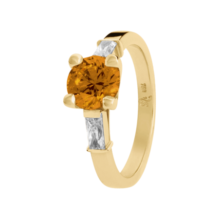 Paris Madeira Citrine orange in Yellow Gold