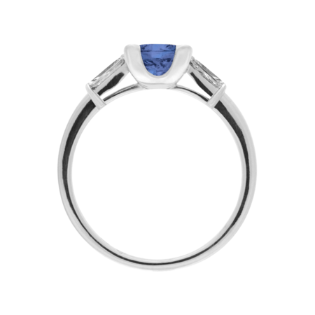 Paris Tanzanite blue in White Gold