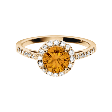 Prague Madeira Citrine orange in Rose Gold