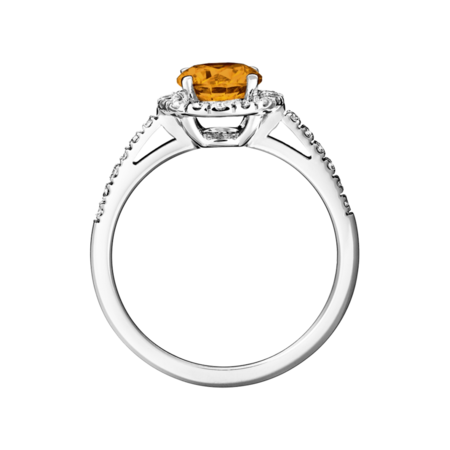 Prague Madeira Citrine orange in White Gold