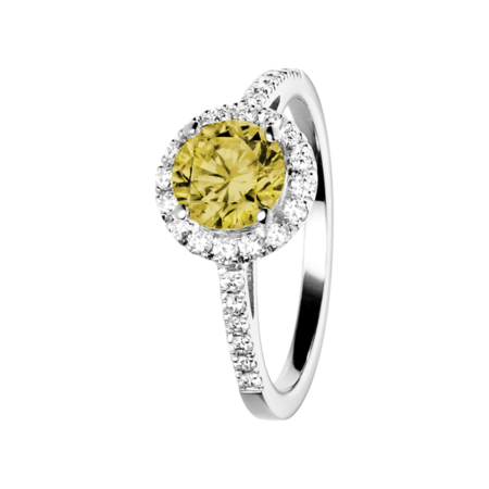 Prague Sapphire yellow in White Gold