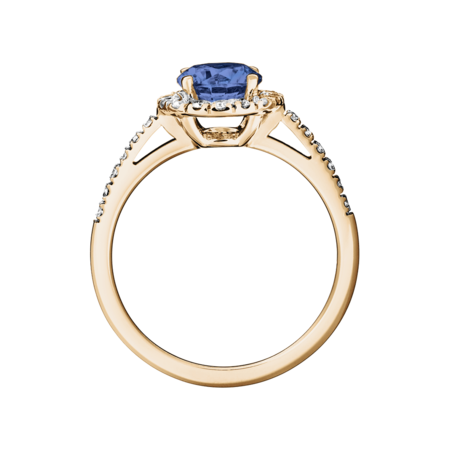 Prague Tanzanite blue in Rose Gold
