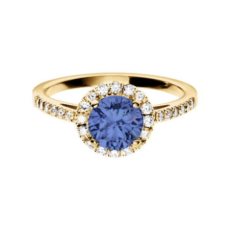 Prague Tanzanite blue in Yellow Gold