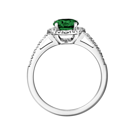 Prague Tourmaline green in Platinum