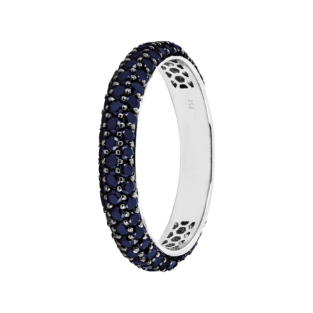 Ring Couleur Bleu in White Gold