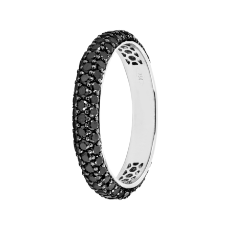 Ring Couleur Noir in White Gold
