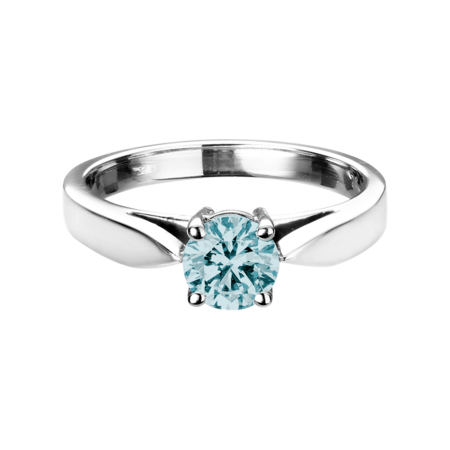 Vancouver Aquamarine Blue in White Gold
