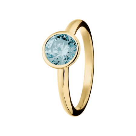 Vienna Aquamarine Blue in Yellow Gold