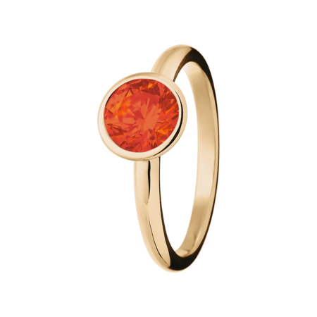 Vienna Fire Opal orange in Rose Gold