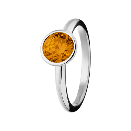 Vienna Madeira Citrine orange in Platinum