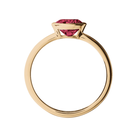 Vienna Ruby red in Rose Gold