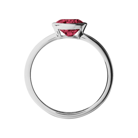 Vienna Ruby red in White Gold
