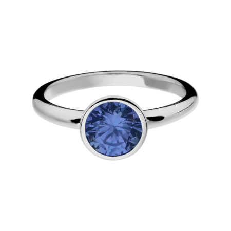 Vienna Tanzanite blue in Platinum