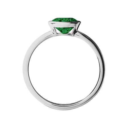 Vienna Tourmaline green in Platinum