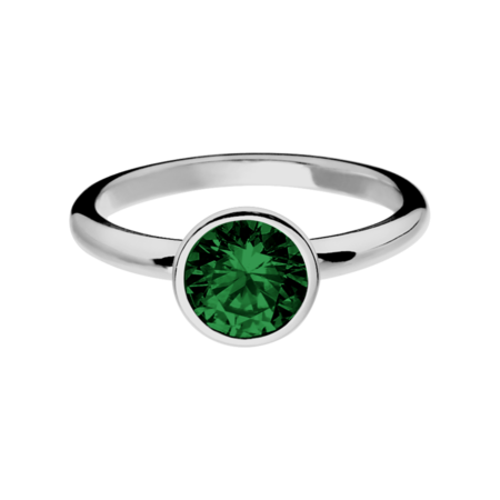 Vienna Tourmaline green in White Gold