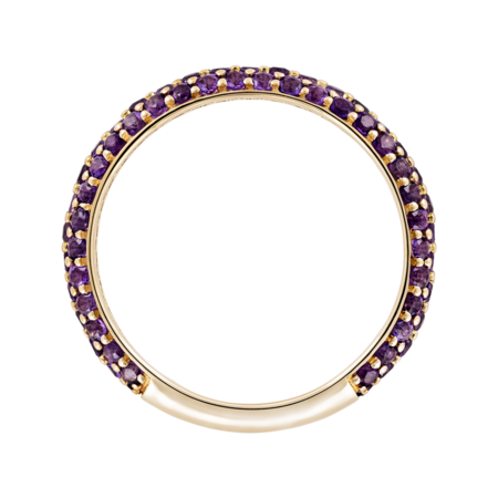 Bague Couleur Violet in Or jaune
